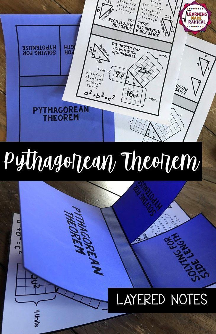 Fresh Ideas - Pythagorean Theorem Interactive Notes Activity