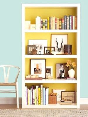 16 DIY Projects (You\'ll Actually Want to Make | Yellow bookshelves ...