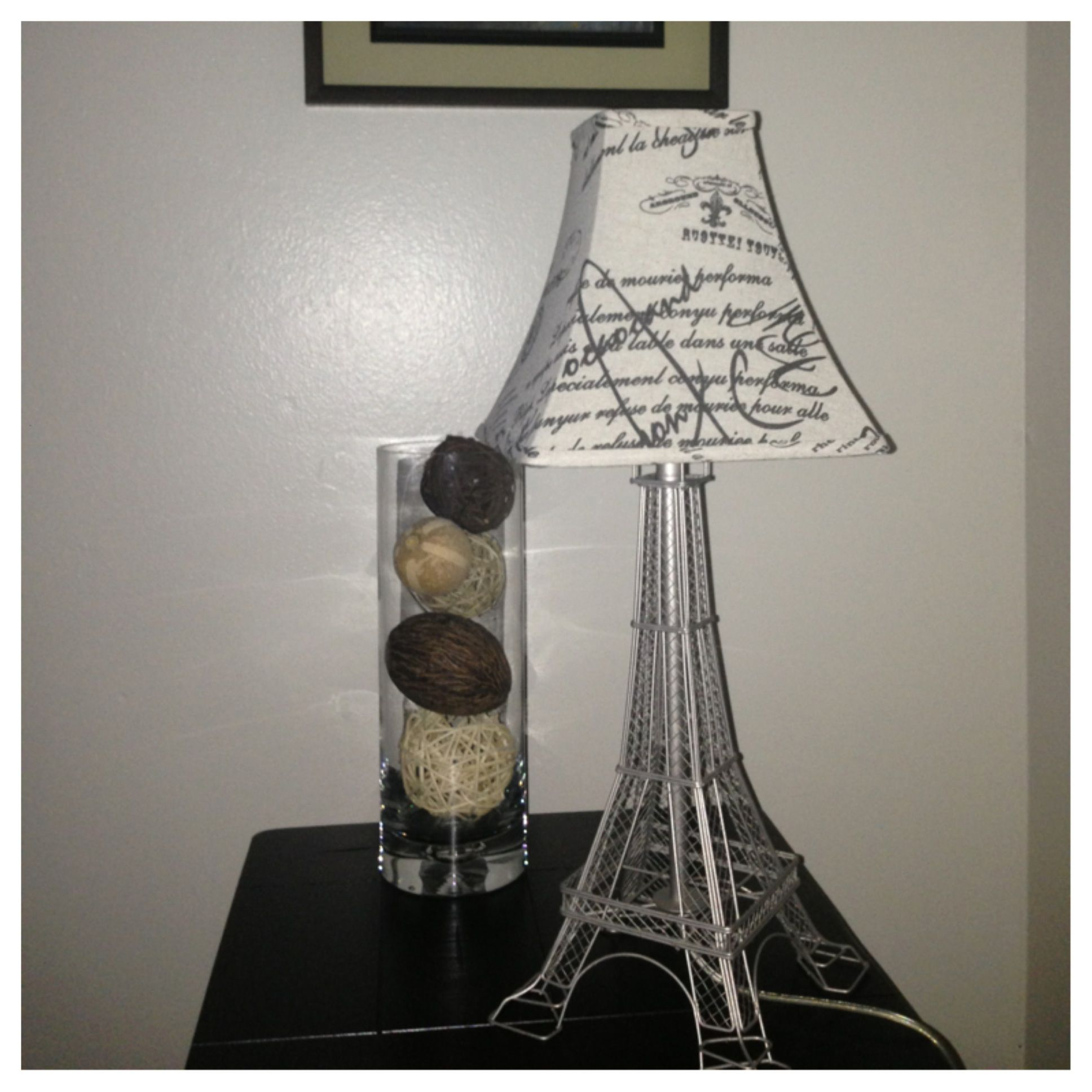 Diy Lamp. Eiffel Tower With Lampshade Little