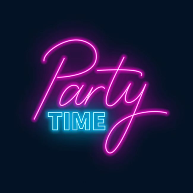Party Time Lettering Led Neon Sign Neon Signs Neon Signs Quotes Custom Neon Signs