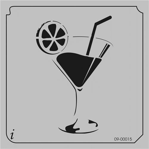 09-00015 Cocktail Stencil Template