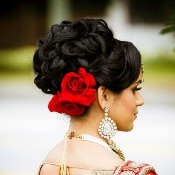 Wedding Hairstyles For Medium Hair Indian: Fullonwedding-bridal Beauty-contemporary Bridal Hairstyle