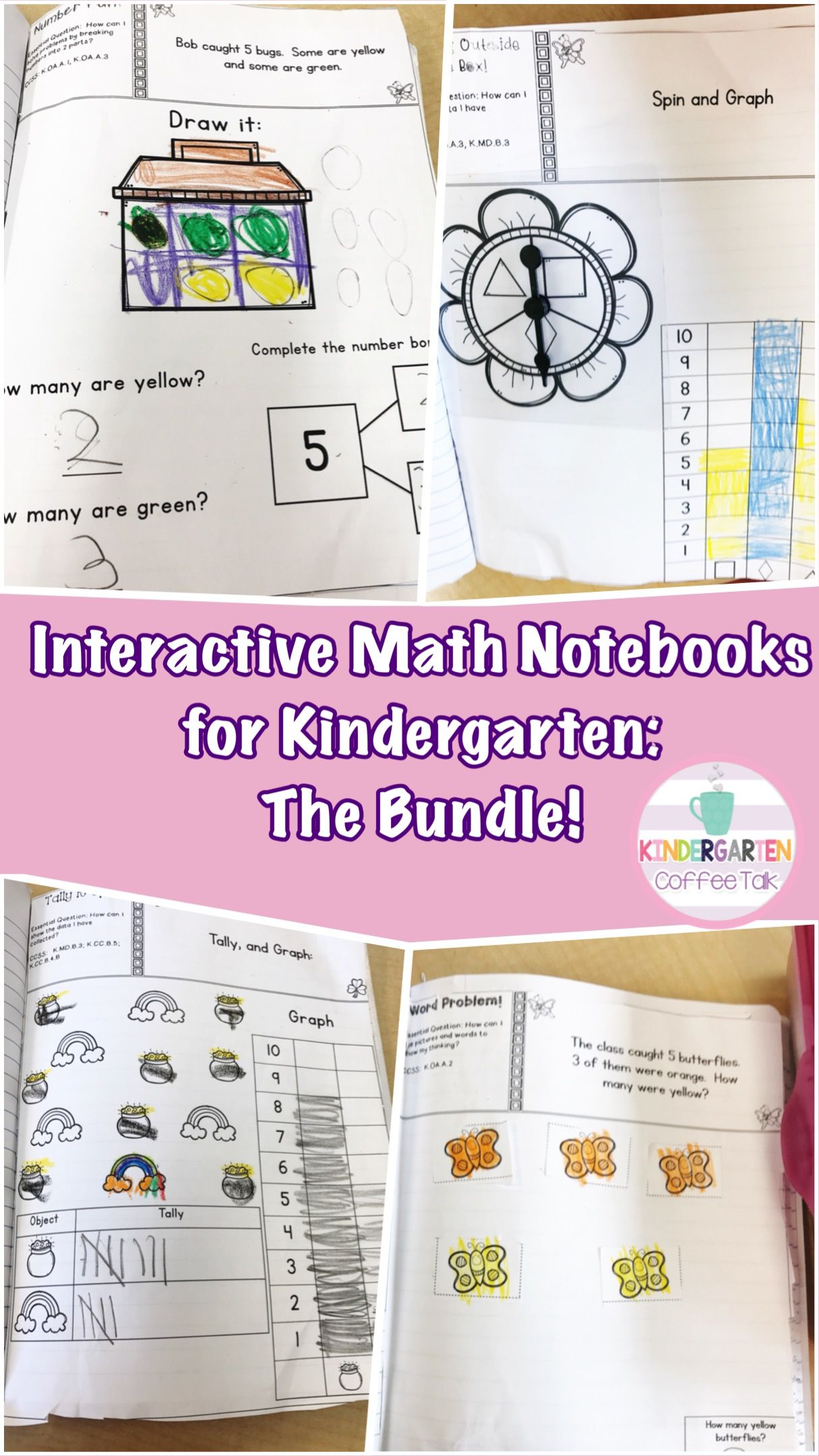 Kindergarten Interactive Math Notebooks For The Whole Year