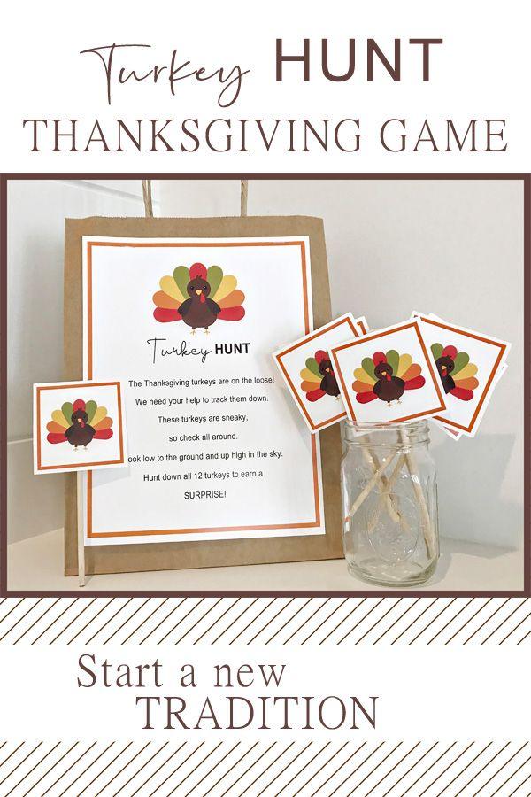 Turkey Hunt Thanksgiving Game Printable DIGITAL DOWNLOAD | Etsy