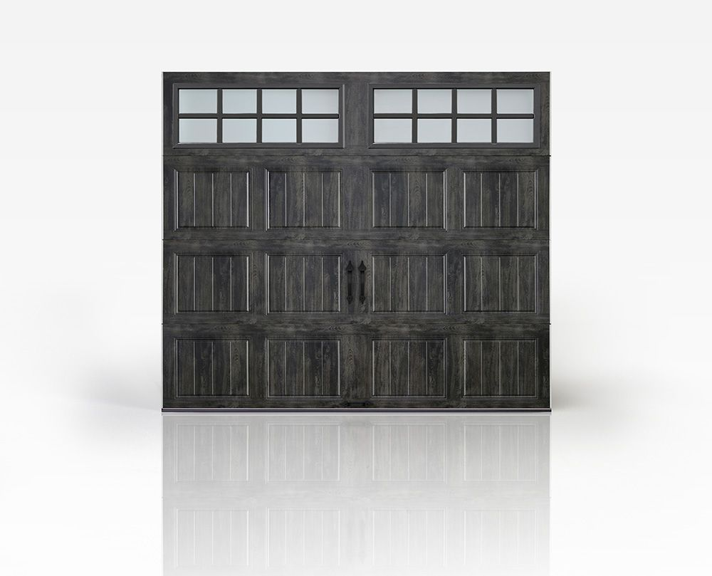 Rustic Gray Carriage House Garage Door Clopay Gallery Collection Steel Door In New Slate Ultra Gr Garage Doors Carriage House Garage Doors Garage Door Types