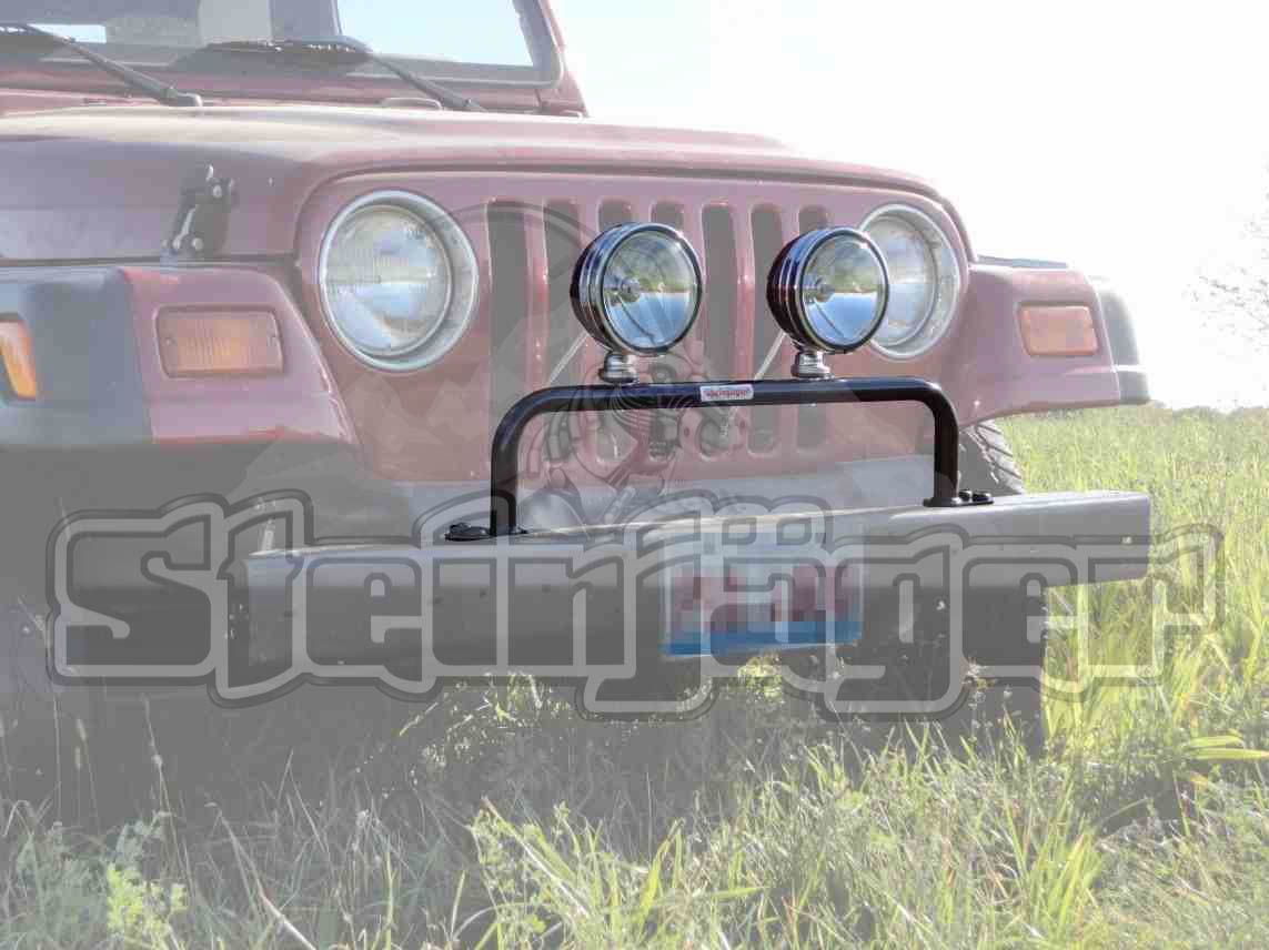 Steinjager grill guard with light bar lights not included fits 1997 2006 jeep