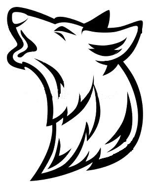 wolf head howling silhouette high quality wallpaperhd clipart rh pinterest com big bad wolf head clipart wolf head clipart free