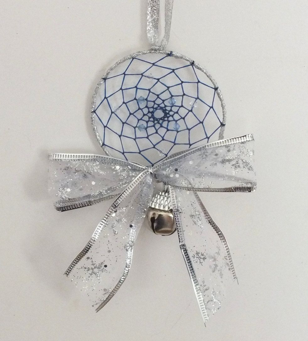 Buy Christmas Tree India: Christmas Blue And Silver Dreamcatcher Native American