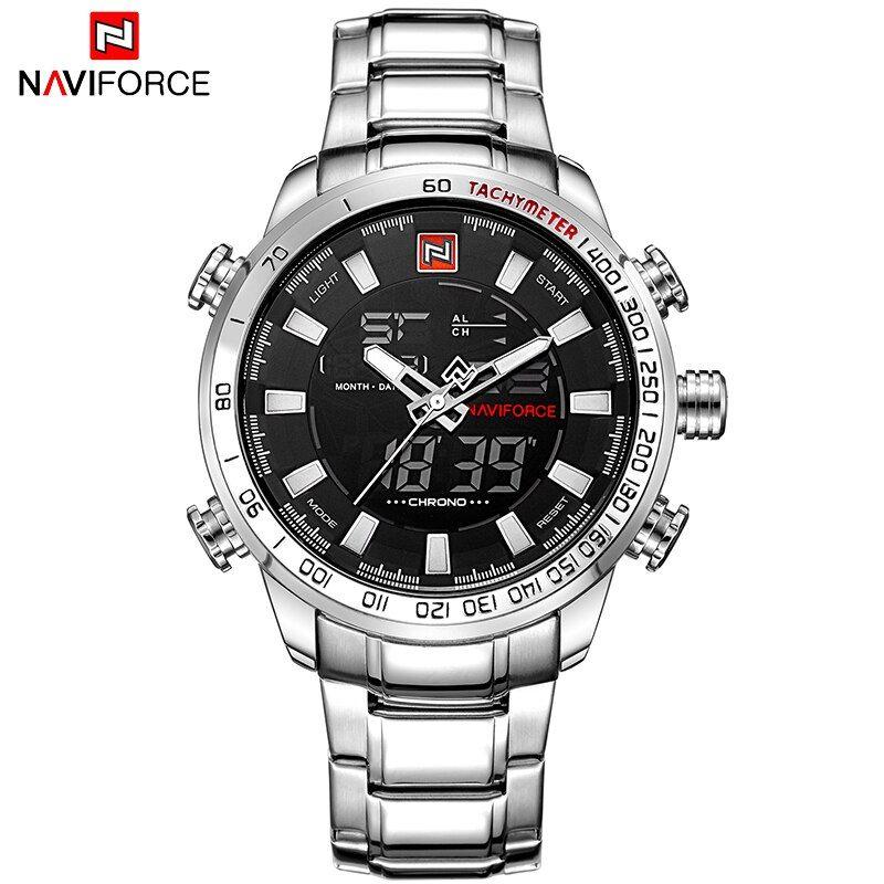 Relojes Para Hombres Relojes Deportivos Militares Para Hombre De Marca Naviforce Reloj Digital Analogico Led Para Hombre Reloj Masculino De Cuarzo Inoxidabl En 2020 Relojes De Lujo Para Hombres Relojes