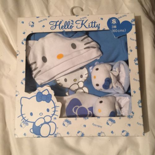 Sanrio hello #kitty baby #outfit set, small, up to 3 #months, blue,  View more on the LINK: 	http://www.zeppy.io/product/gb/2/161962752184/