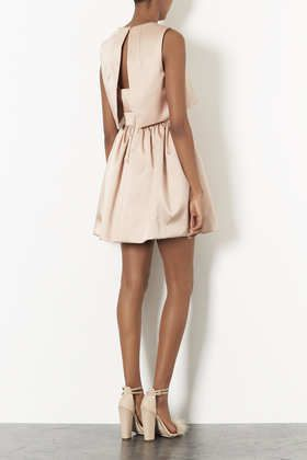 Duchess Satin Skater Dress