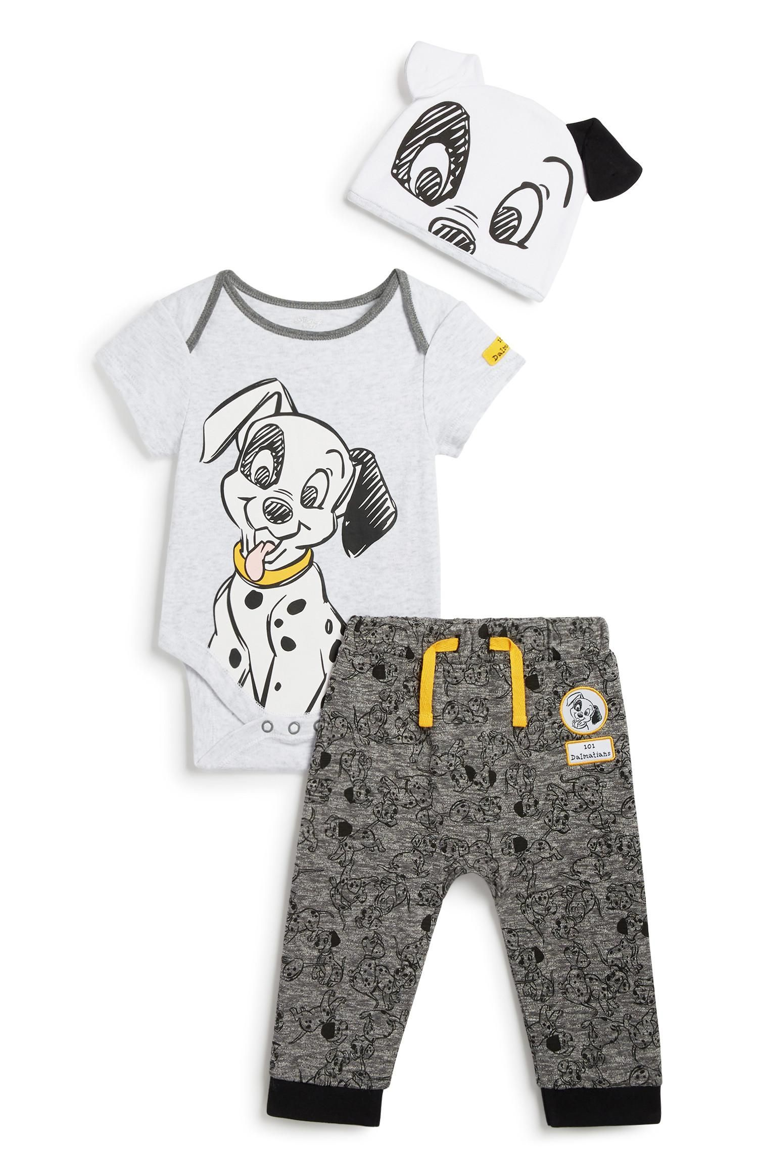 Primark 101 Dalmatians 3pc Outfit Set Disney Baby Clothes Disney Toddler Outfits Baby Boy Outfits