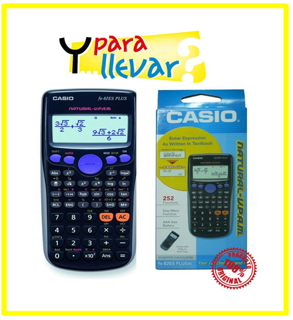 Calculadora CASIO Cientifica FX82 ESPLUS BK #YParaLlevar = $24.900