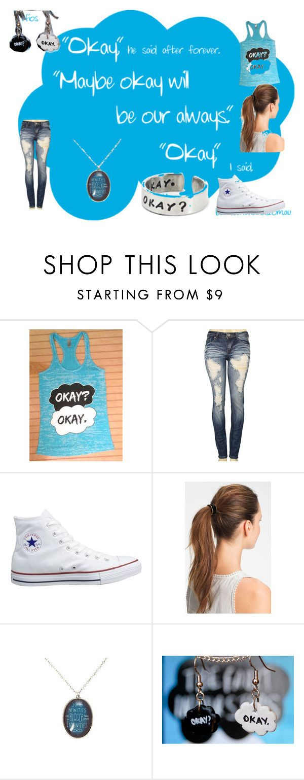 """""""The Fault in OUr stars"""" by bvbmc01 ❤ liked on Polyvore featuring Machine, Converse and L. Erickson"""