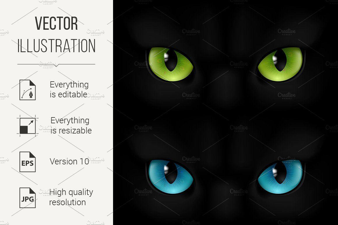 Cats Eyes Eye Illustration Cat Eye Illustration