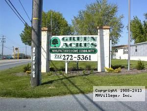 Green Acres In Lebanon Pa Via Mhvillage Com Mobile Home Parks Acre Mobile Home