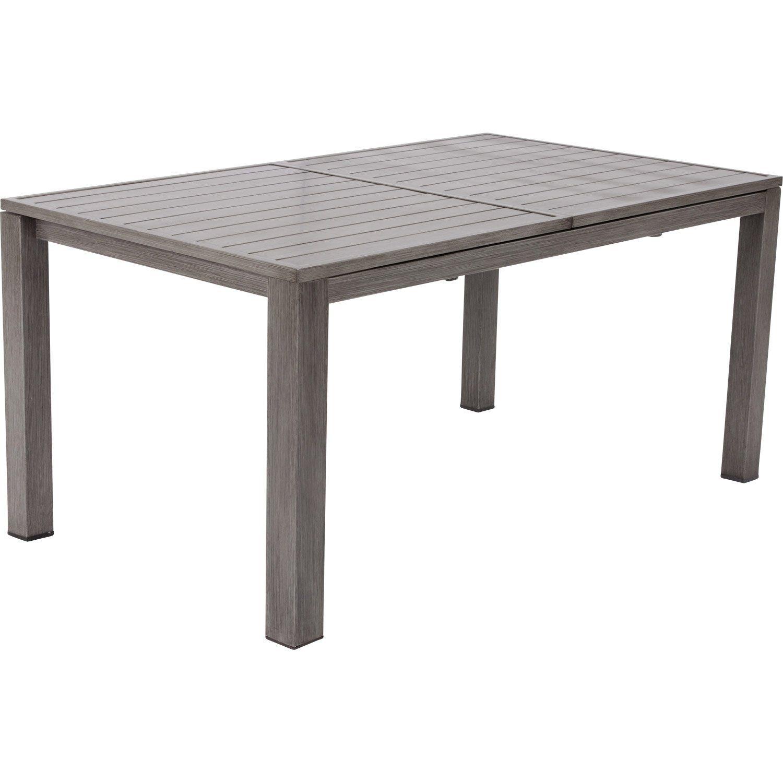 table de jardin naterial antibes 220 rectangulaire gris look bois 68 personnes leroy - Table De Jardin Pas Cher