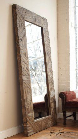 Tehama Large Framed Floor Mirror Essentialsinside Com Wood Frame