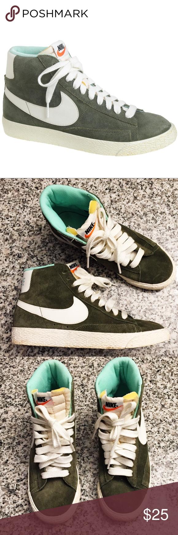 J.Crew X Nike® women's suede Blazer mid sneakers Suede upper Rubber sole  Vintage
