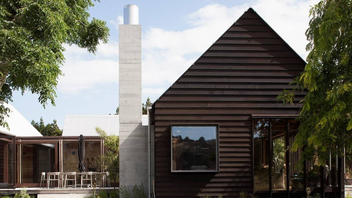 Timber Lines The Inside And Outside Of This Cool Award Winning House, Where  Plasterboard