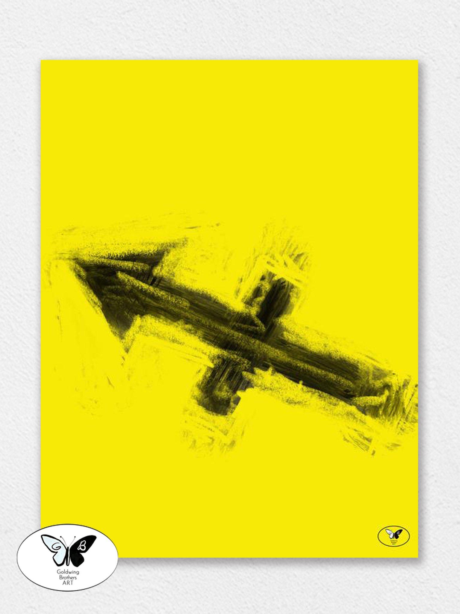 Arrow Of Sagittarius In Yellow Art A Fire Sign Of Fieriness To You Kids Bedroom Decor Modern Bedroom Decor Bedroom Vintage