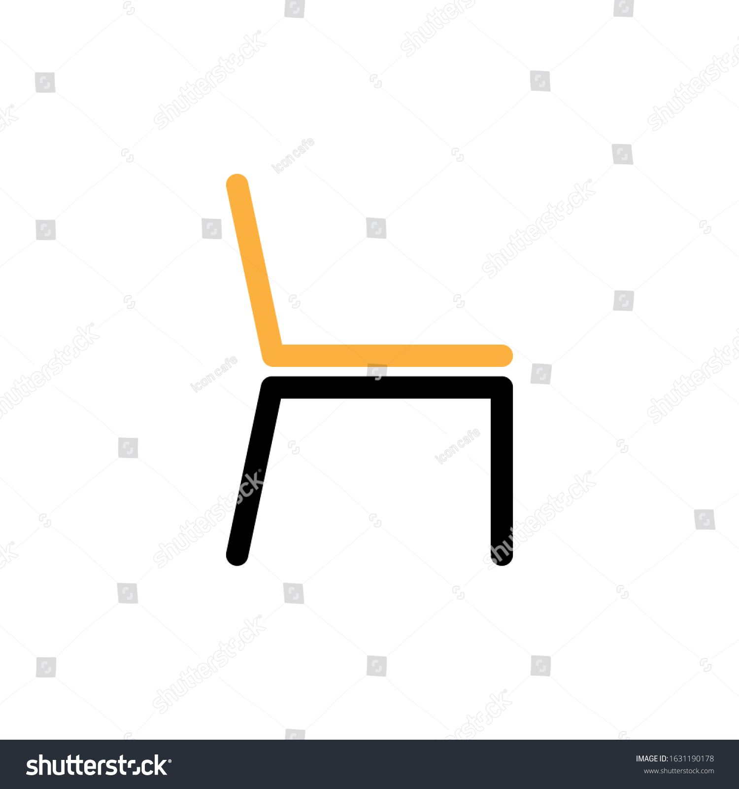 Vector Chair Icon Line And Two Colour Design Template Ad Sponsored Icon Chair Vector Line In 2020 Design Template Icon Color Design