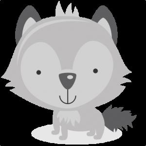 Wolf baby no background.
