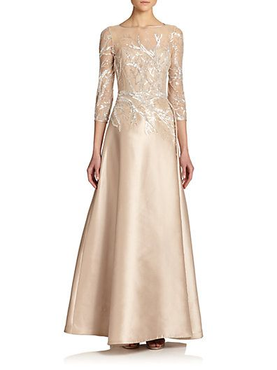 Mother of the bride...so perfect..at Saks Teri Jon by Rickie Freeman ...