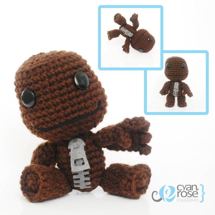 Sackboy, from Little Big Planet. Crochet Amigurumi by ...