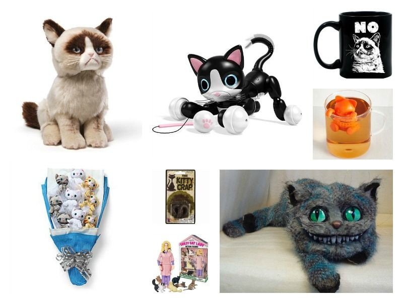 Standing in front of her mirror, Cat Lady frowns and arches her back.  #giftguide #holidaygiftguide