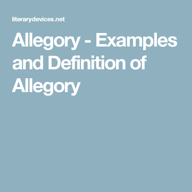 Allegory Examples And Definition Of Allegory Homeschooling Plans