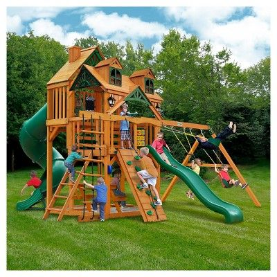 Gorilla Playsets Malibu Deluxe I Swing Set With Amber Multi Colored