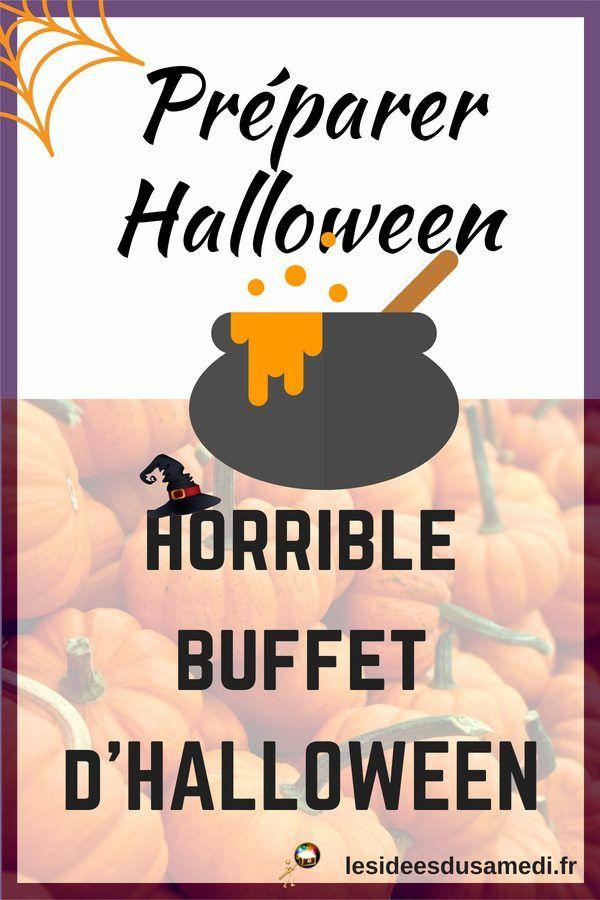 Buffet d'Halloween facile à faire soi-même: horribles gourmandises salées et sucrées