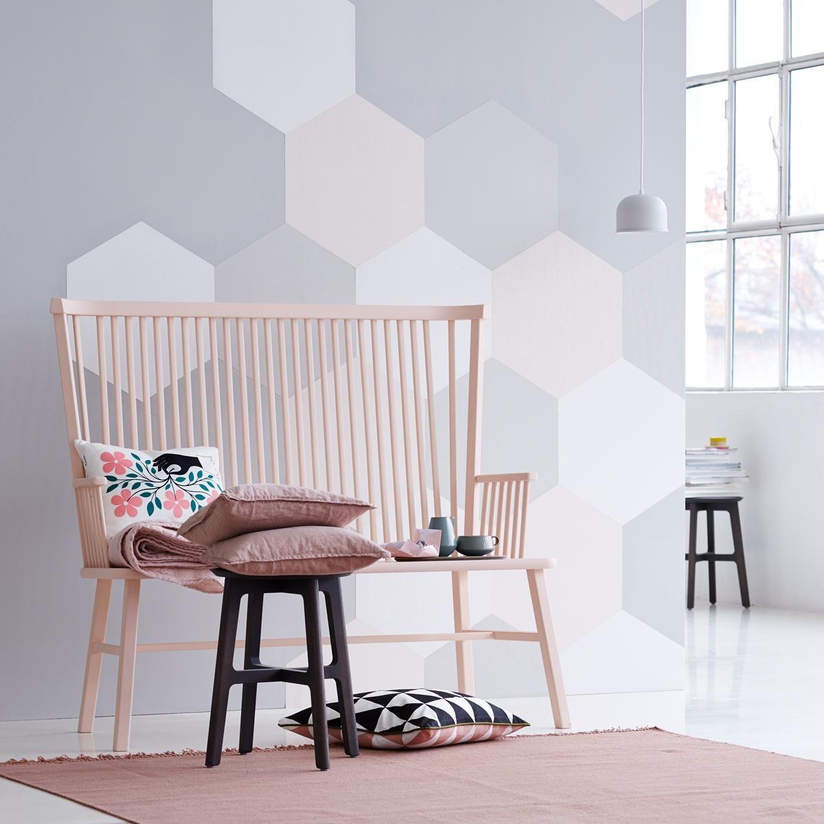 Wandgestaltung und Deko in zarten Farben Wohnen