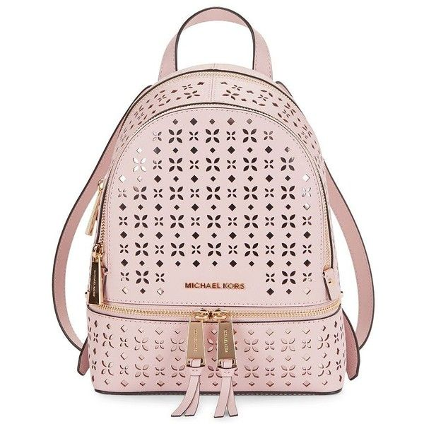 7d446c626a Michael Michael Kors Rhea Small Leather Backpack ( 278) ❤ liked on Polyvore  featuring bags