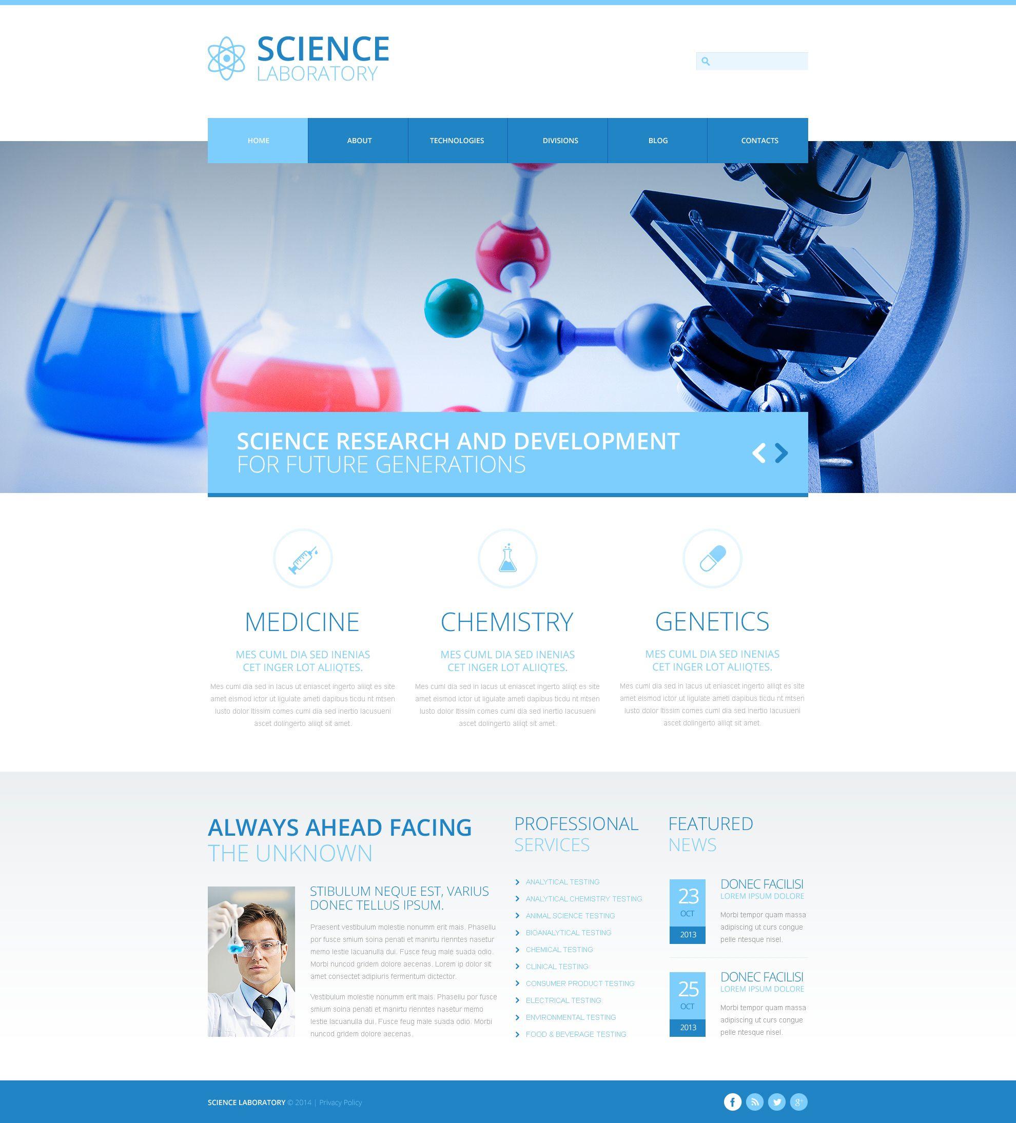 science lab responsive joomla template website template modern