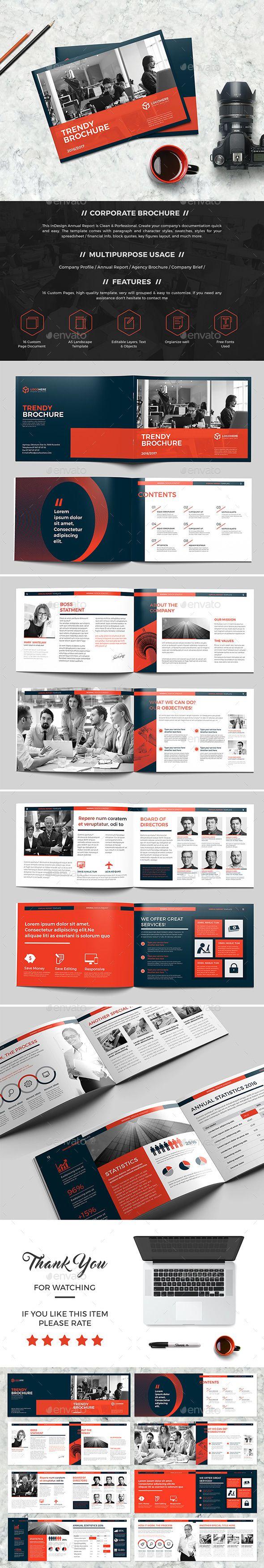 Landscape Brochure 16 Pages Template InDesign INDD. Download here ...