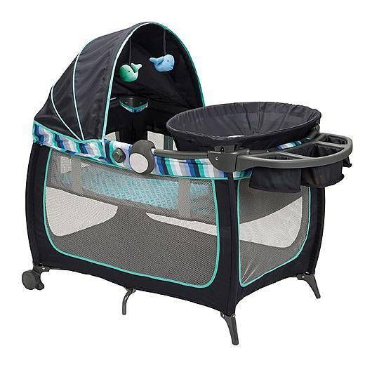 details about pack n 39 play nautical whale playard under the sea baby play yard infant newborn. Black Bedroom Furniture Sets. Home Design Ideas
