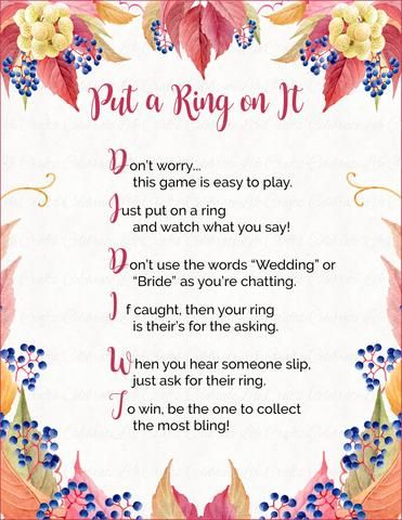 photo regarding Put a Ring on It Bridal Shower Game Free Printable identified as Spot a Ring upon It\