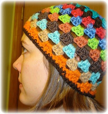 granny square style hat - free pattern available  c9824c4f117