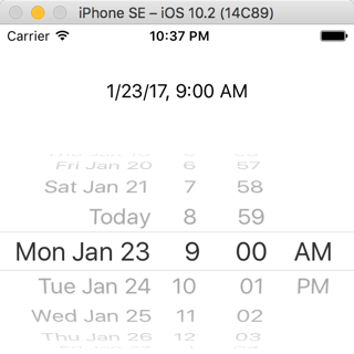 The Date Picker provides a custom Picker View that uses
