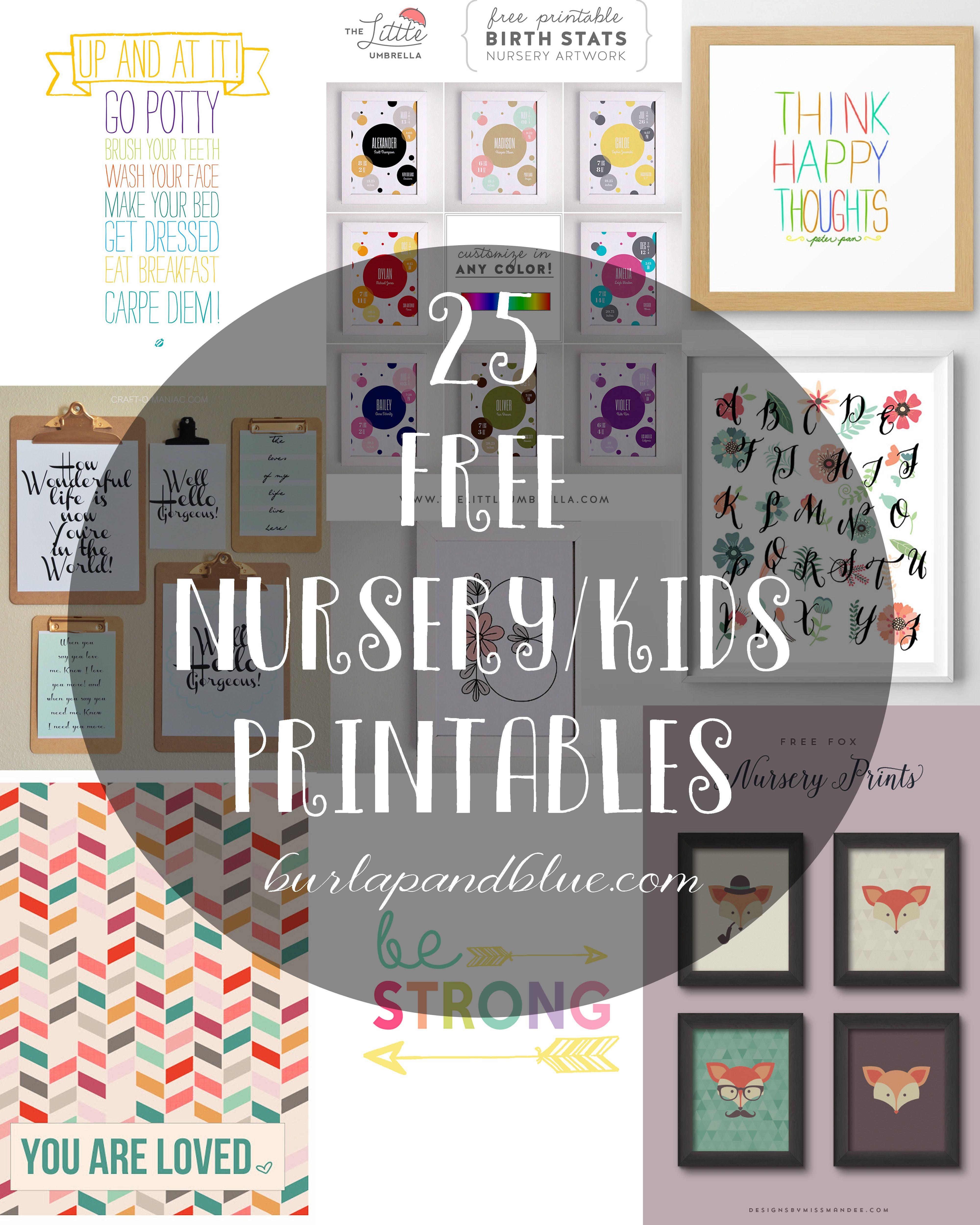 Kids Printables Free Printable Art For Kids And Nurseries
