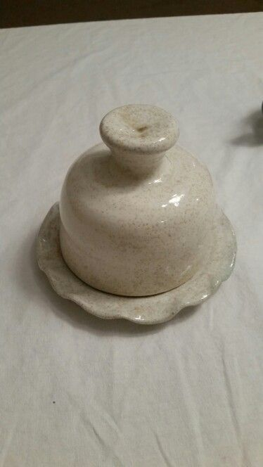 Pottery Cheese Dome on the wheel