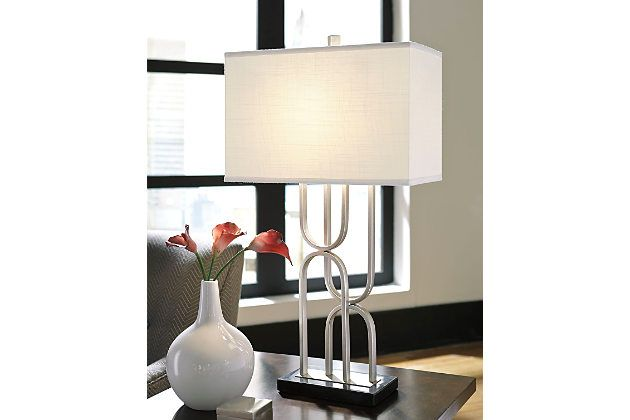 Darielle Table Lamp by Ashley HomeStore, Silver Finish