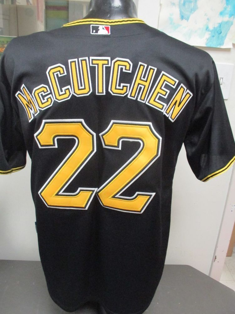 finest selection 06a13 d50d2 MLB Majestic Black Pittsburgh Pirates #22 Andrew McCutchen ...