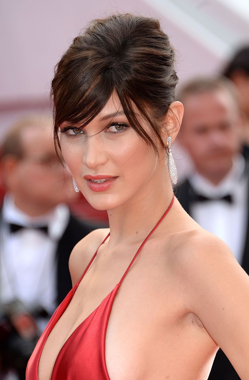 489dbc040b Bella Hadid Won The Cannes Red Carpet In A Jaw-Dropping Dress And New Bangs  - SELF