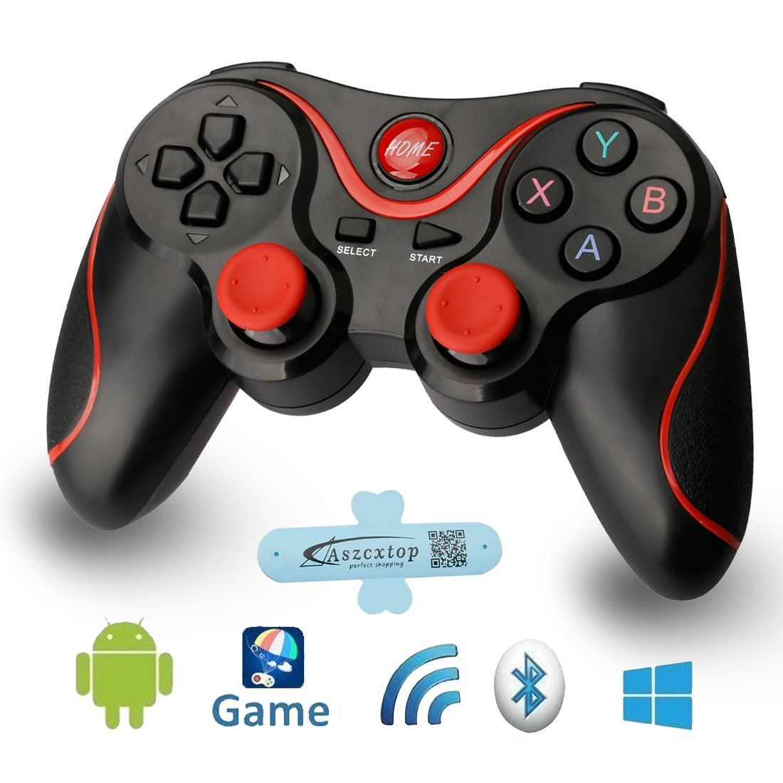 A-szcxtop Android Bluetooth Gamepad Wire Wireless