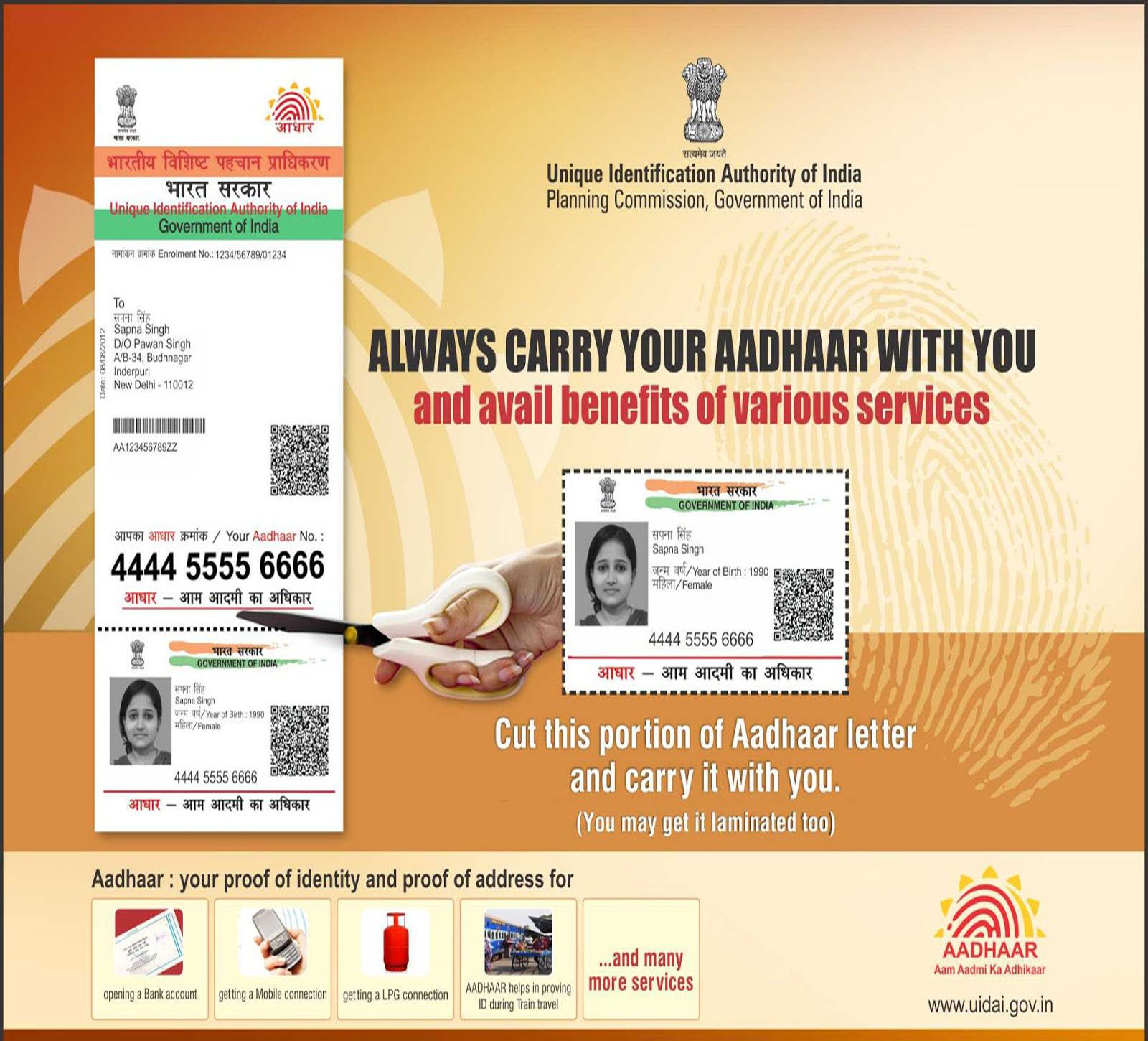 Uidai warns against agencies printing plastic aadhaar cards economic times - On Monday Supreme Court Decided To See Whether Aadhaar Scheme As Money Bill In Parliament