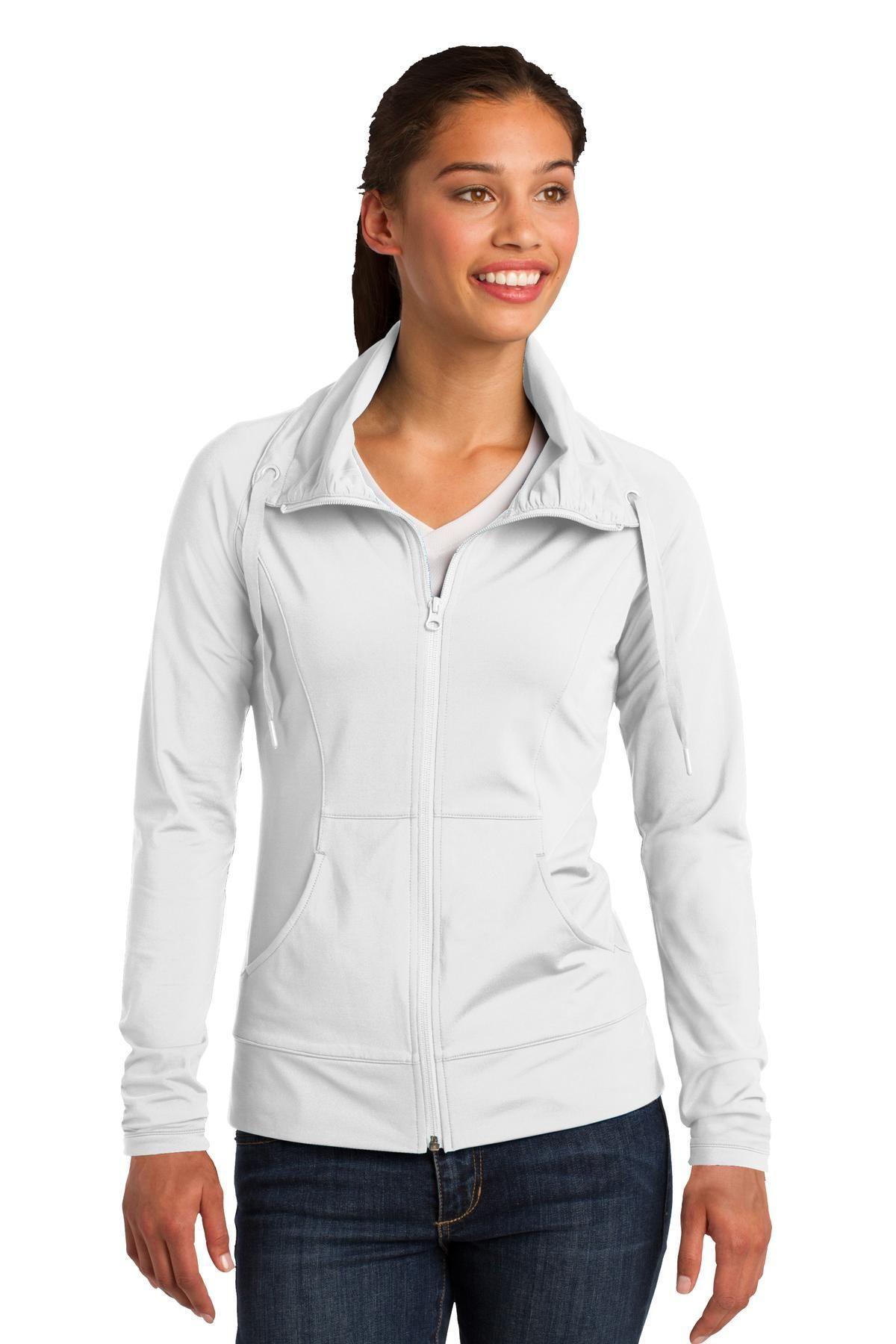 SportTek Ladies SportWick Stretch FullZip Jacket LST852
