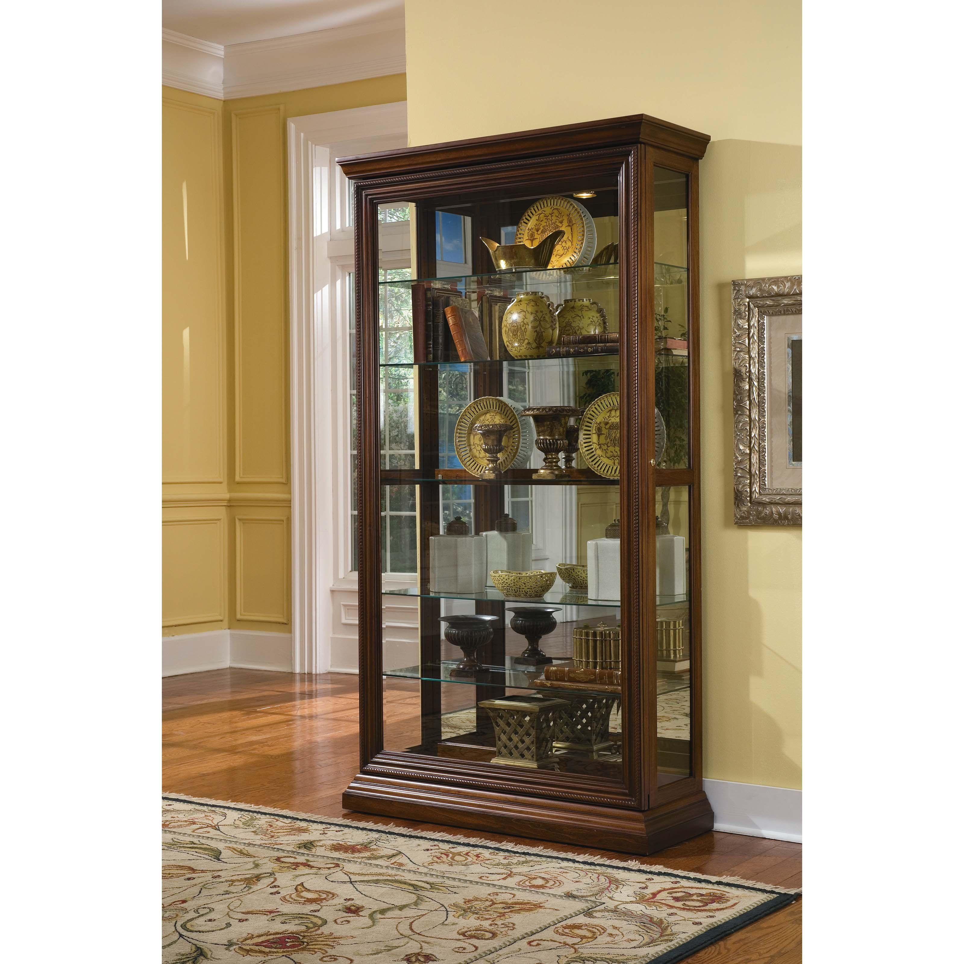 Beau Pulaski Tristan Curio Cabinet   The Pulaski Tristan Curio Cabinet Lets You  Display Your Finest Collectibles. Featuring An Embossed Decorative Door  Frame ...